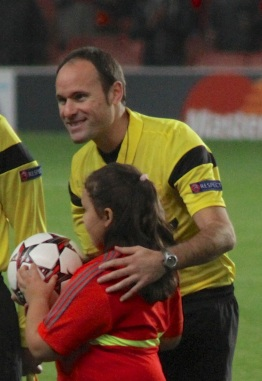 At the helm: Mateu Lahoz has been tasked with handling the third El Clasico meeting of the season in the Copa Del Rey final - his second major appointment as a Spanish top-flight official