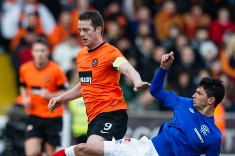 Heading to the final: Dundee United came out on top in the battle of the cup crusades with Rangers