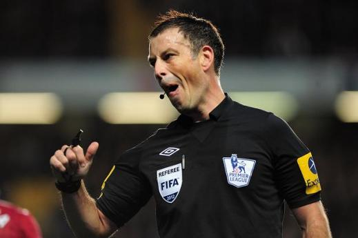 In the firing line: Clattenburg will be the man in black on Sunday as Liverpool and Manchester City go head to head