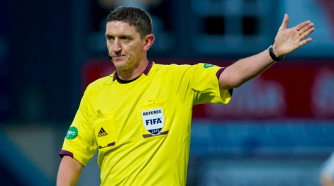 Man in the middle: Craig Thomson will oversee his third Scottish Cup final when St Johnstone and Dundee United take to the field in the all-Premiership clash at Celtic Park