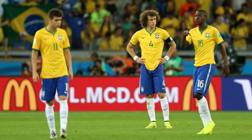 Brazil 1-7 Germany - Distraught Brazilian players contemplate the consequences