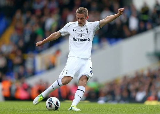 On the ball: Sigurdsson has slotted seamlessly backed into the Swansea midfield after spending two indifferent years at Spurs (Picture from Hackney Gazette)