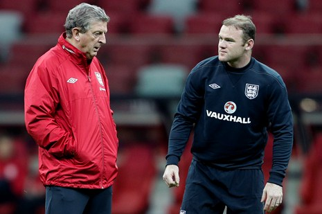 The figureheads: Manager Hodgson (left) and captain Rooney (right) will lead the England team against San Marino (Picture from Quays News)