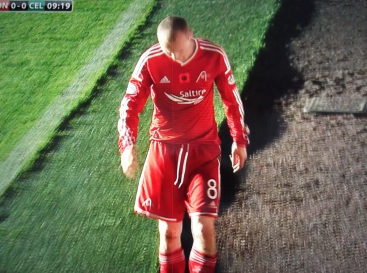 Aberdeen v Celtic - Willo Flood hobbles off injured