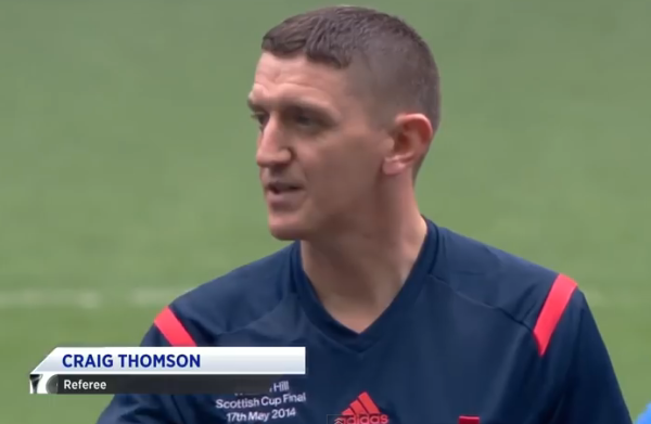 "Number one choice: Thomson is often considered to officiate the so-called ""big games"" in Scottish football"