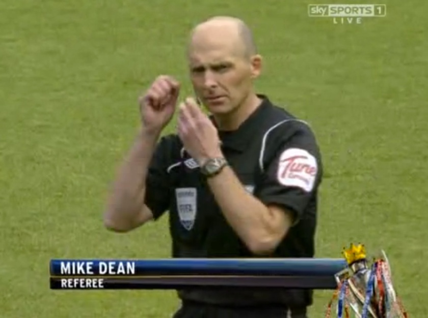 Familiar face: The vastly experienced Mike Dean will be at the helm for Saturday's encounter in north London