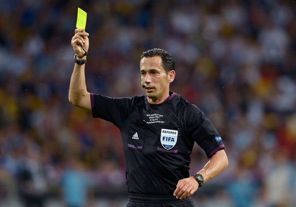 Dishing out discipline: Proenca - a financial advisor from Lisbon - will be one of six referees in Morrocco in December for the Fifa tournament (Picture from Zimbio.com)