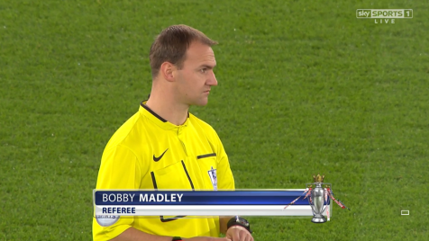Bobby Madley referee (Swansea 1-2 Spurs) 14th Dec 2014
