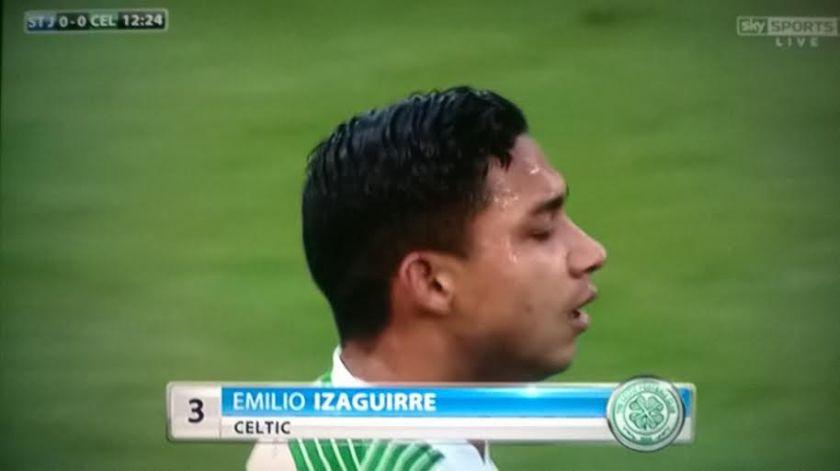 Celtic defender Emilio Izaguirre
