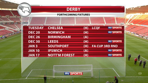 Derby fixtures to come