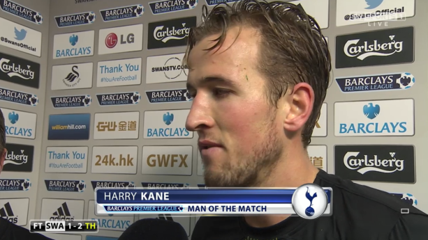 Star of the show: Kane has been hugely impressive since breaking into the Spurs first team