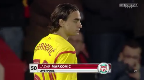 Memorable: The 20-year-old Serbian - a £20 million summer signing from Benfica - opened his goalscoring account for Liverpool