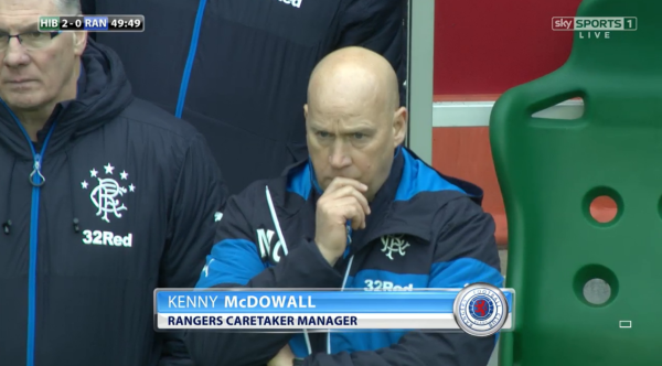 Rangers caretaker boss Kenny McDowall at Easter Road - 27th Dec 2014