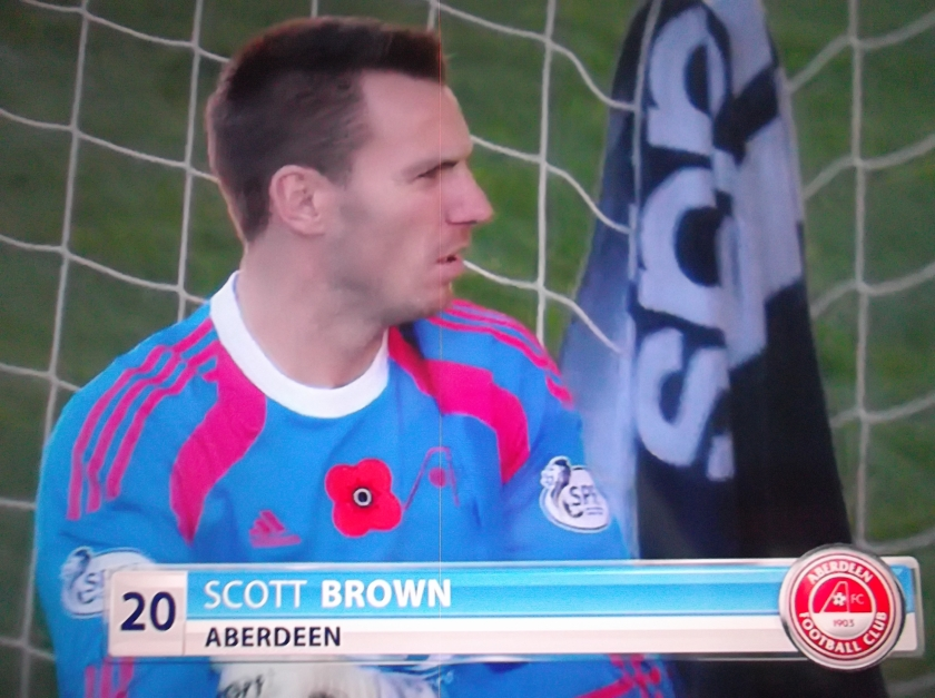Stopper: Can Aberdeen goalkeeper Scott Brown keep a clean sheet at Tannadice?