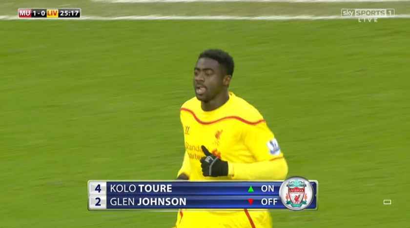 Enforced: Former Manchester City defender Kolo Toure replaced groin injury victim Johnson