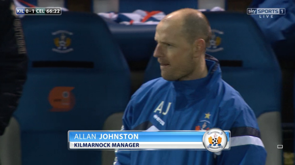 Disappointed: Johnston bemoaned his side's first-half display against the reigning champions