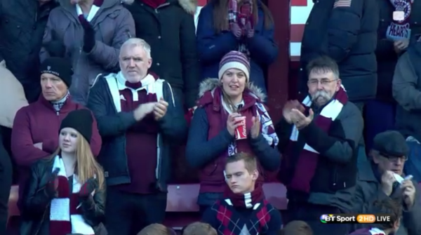 Spirited mood: Hearts fans have seen their side drop points on only three occasions in the league this term after 19 games