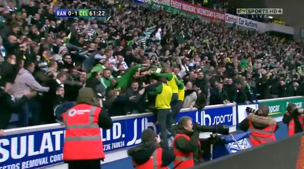 Rangers 0-2 Celtic Hoops fans at Ibrox - 1 Jan 2011