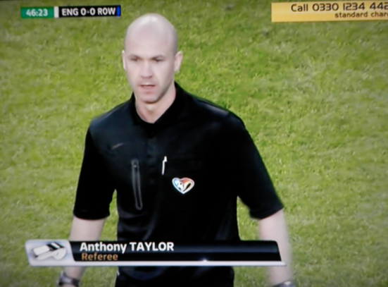 Anthony Taylor at Old Trafford for Soccer Aid 2014