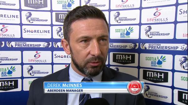 Derek McInnes pre-match