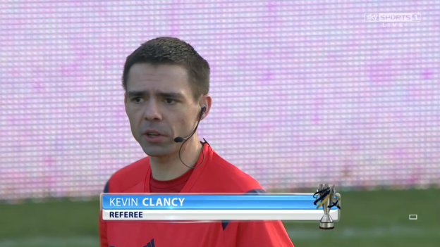 Kevin Clancy referee (Ross County v Celtic - 24th Jan 2015)