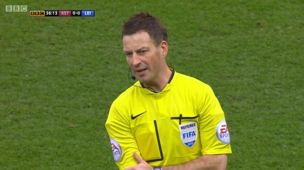 Mark Clattenburg (Aston Villa v Leicester - 15th February 2015)