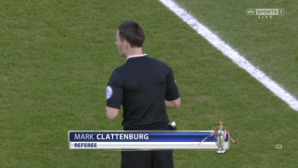 Mark Clattenburg referee (West Ham v Man United - 8th February 2015)