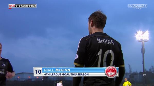 Niall McGinn 4th goal of season