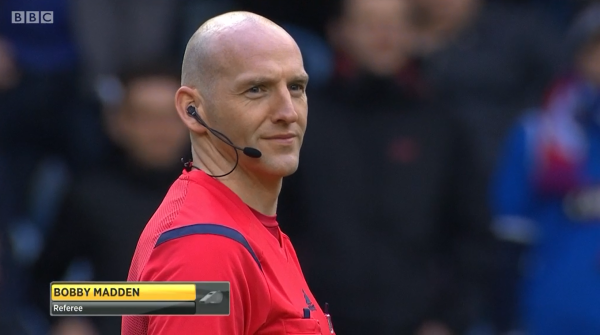 Bobby Madden referee (Rangers v Raith Rovers - 8th February 2015)
