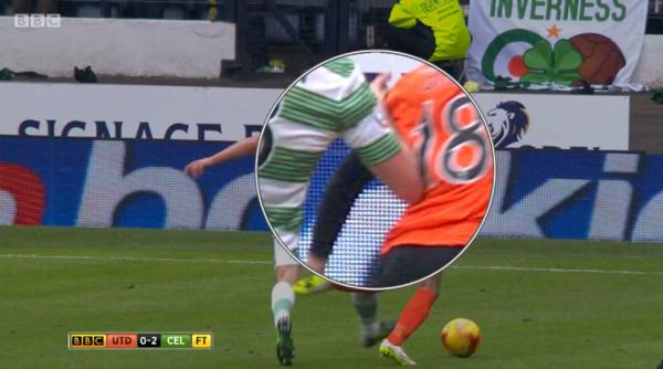Dundee Utd penalty appeal