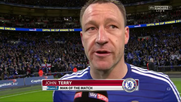 John Terry man of the match (CO Cup Final 2015 - 1st March)