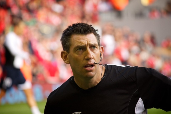 Lee Probert warms up (Liverpool v Bolton in 2012)