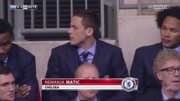 Nemanja Matic at Wembley (CO Cup Final 2015 - 1st March)