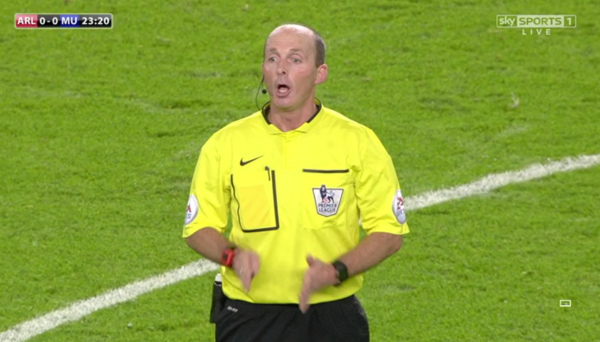 Mike Dean (Wirral) in action at the Emirates