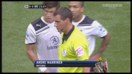 Andre Marriner - Tottenham v Man City August 2010