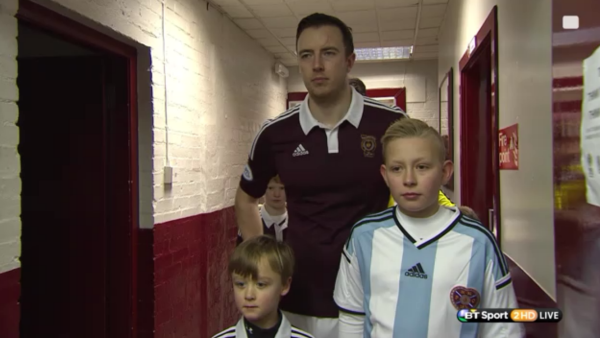 Hearts players in tunnel at Tynecastle (v Hibs - 3rd Jan 2015)
