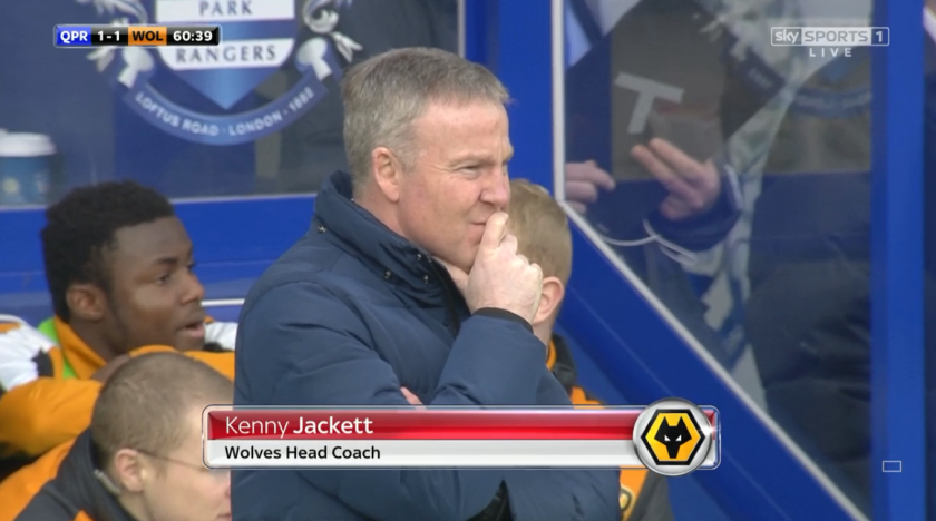 Kenny Jackett looks on (v QPR - 23rd Jan 2016)
