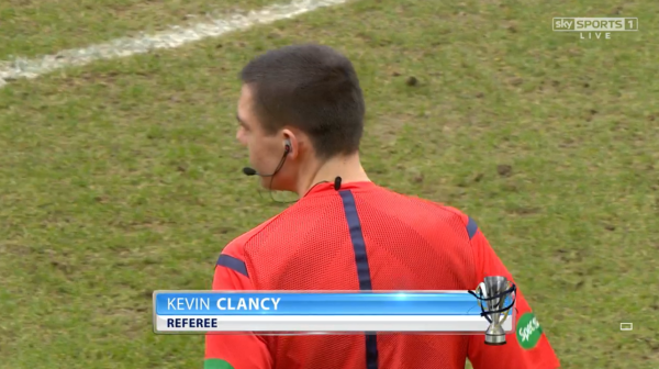 Kevin Clancy referee (St Johnstone v Celtic - 14th Feb 2015)