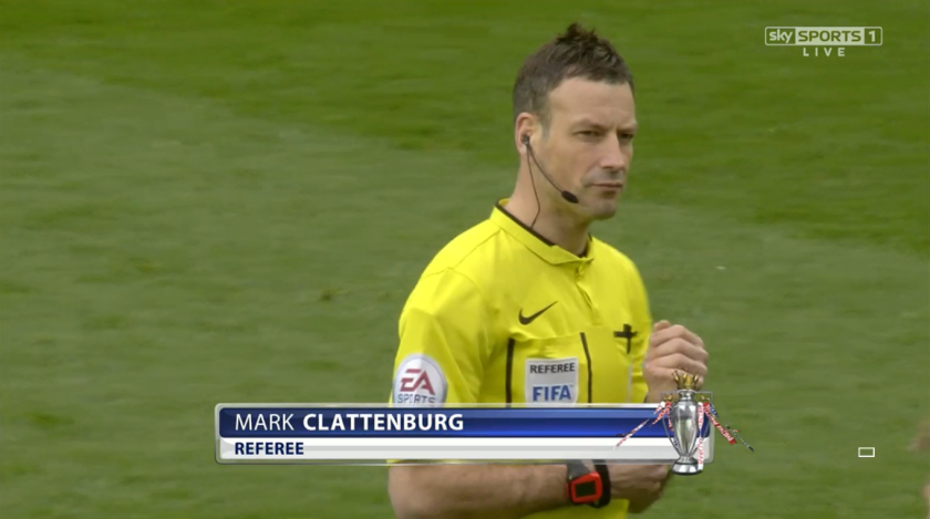 Mark Clattenburg referee (Man United v Tottenham - 15th March 2015)