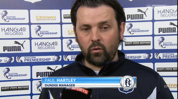 Back to winning ways: Hartley's team recorded their first victory in four league outings and arguably their biggest of the season