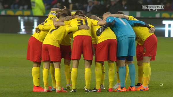 Watford huddle