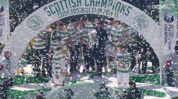 Celtic title celebrations at Parkhead (24th May 2015)