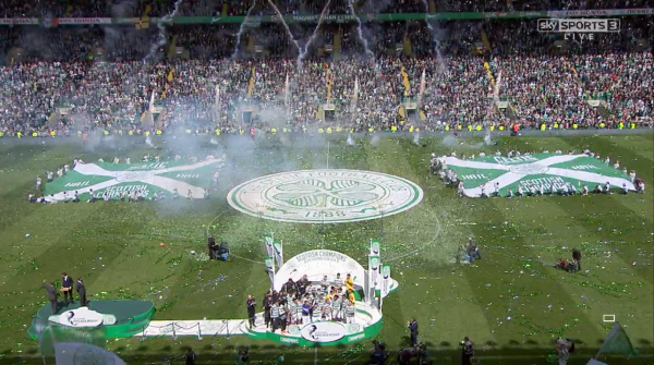 Celtic's Premiership trophy celebrations (24th May 2015)