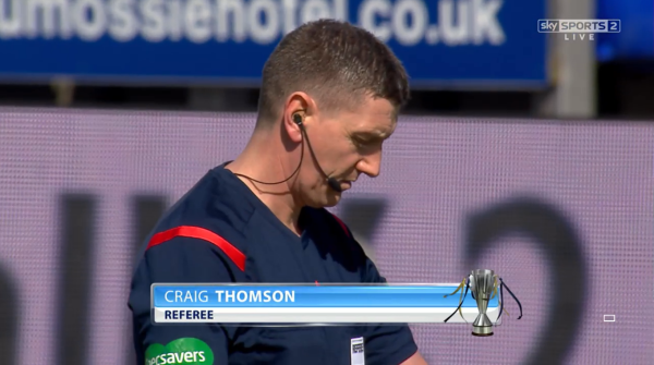Craig Thomson referee (Inverness CT v Celtic - 11th April 2015)