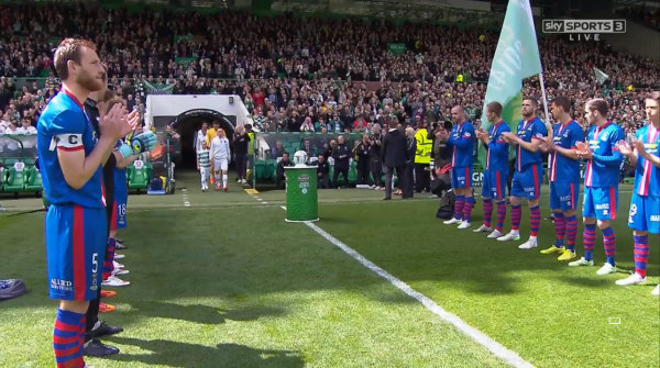 Guard of honour for Celtic (v Inverness CT - 24th May 2015)
