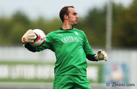 Jamie MacDonald (Falkirk goalkeeper in pre-season friendly)