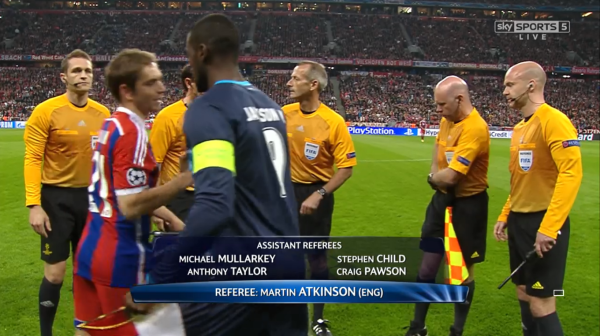 Martin Atkinson referee (Bayern Munich v FC Porto - 21st April 2015)