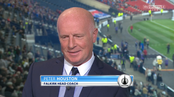 Peter Houston (Falkirk boss at Hampden as pundit - 19th April 2015)