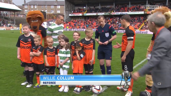 Willie Collum referee (Dundee United v Celtic - 26th April 2015)