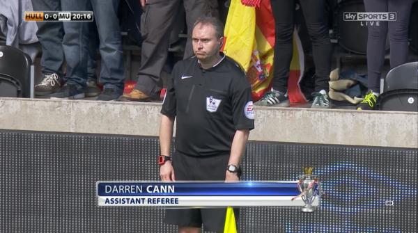 Darren Cann assistant referee (Hull v Man Utd - 24th May 2015)